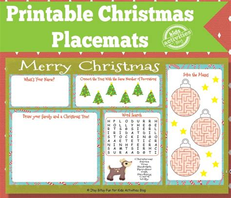 printable xmas placemats free coloring pages of christmas placemat