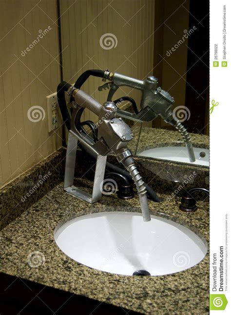 Gas Faucet by Gas Nozzle As Water Faucet Stock Photo Image 26798022