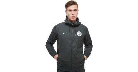 Vest Hoodie Manchester City Fc 03 lyst nike manchester city fc windrunner jacket in green for