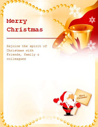ms word colorful christmas flyer templates word excel