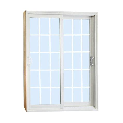 60 Patio Door Stanley Doors 60 In X 80 In Sliding Patio Door With Mini Blinds White Price
