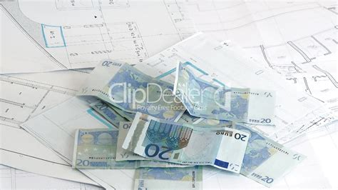 home design free money money for house euro banknotes over house plans royalty