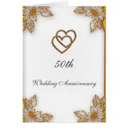 white gold 50th wedding anniversary cards zazzle