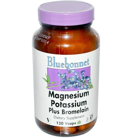 supplement potassium bluebonnet nutrition magnesium potassium plus bromelain