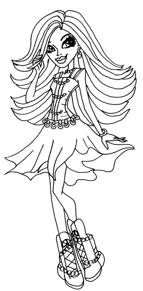 monster high coloring pages by elfkena spectra vondergeist by elfkena on deviantart