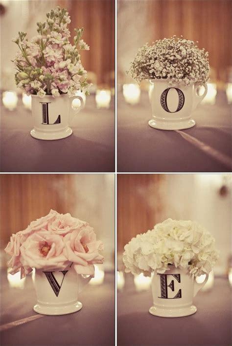 bridal shower dinner table coffee mug centerpieces florals pinterest rehearsal