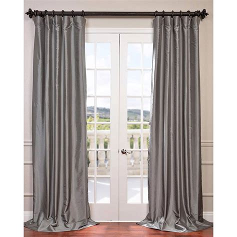 taffeta curtains clearance platinum 108 x 50 inch blackout faux silk taffeta curtain