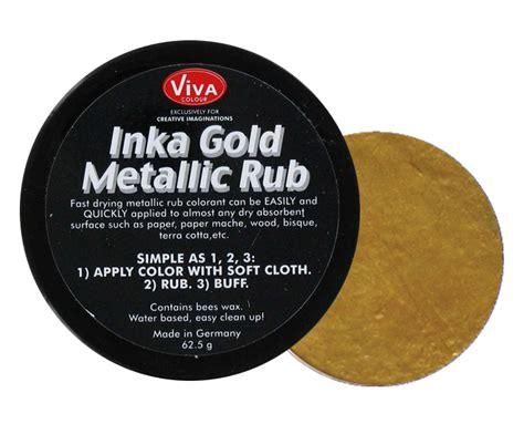 splash of color gold inka gold metallic rub