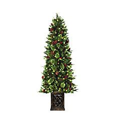 model ty78 797 200lr christmas tree home accent 6 5 ft porch tree the home depot canada