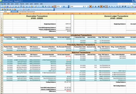 Reconciliation Report Template Excel Reconcile Report