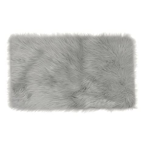 faux fur bathroom rugs frost faux fur decorative rug bed bath beyond