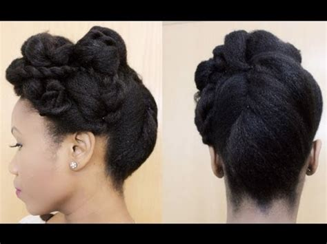 how to pin up natural hair all rolled up roll tuck and pin updo on natural hair