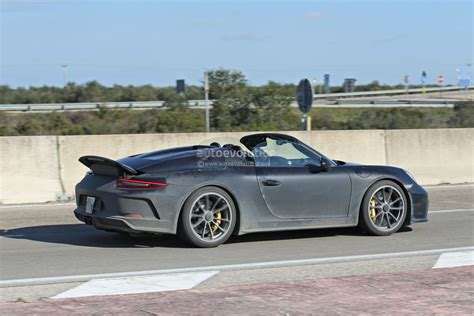 2020 Porsche Speedster by New Porsche 911 Speedster Spotted Testing With 2020 911