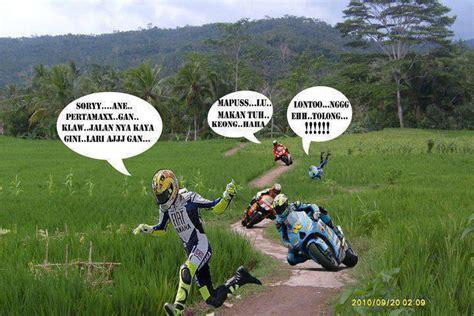 balap motogp di sawah aneka foto lucu