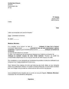 Lettre De Contestation Facture Mobile Exemple Gratuit De Lettre Contestation Facture Tf1 Mobile