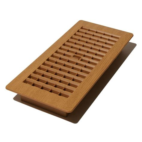 decor home depot decor grates 4 in x 10 in plastic floor register in oak