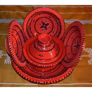Superior Cheminee De Table #12: Service-a-couscous-tatoue-rouge-6-personnes.jpg