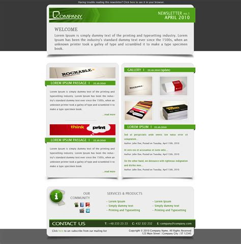 company newsletter email template by subline themeforest