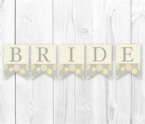 printable rustic banner items similar to rustic burlap banner bride to be bridal