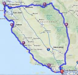 pch california map california motorcycle tour