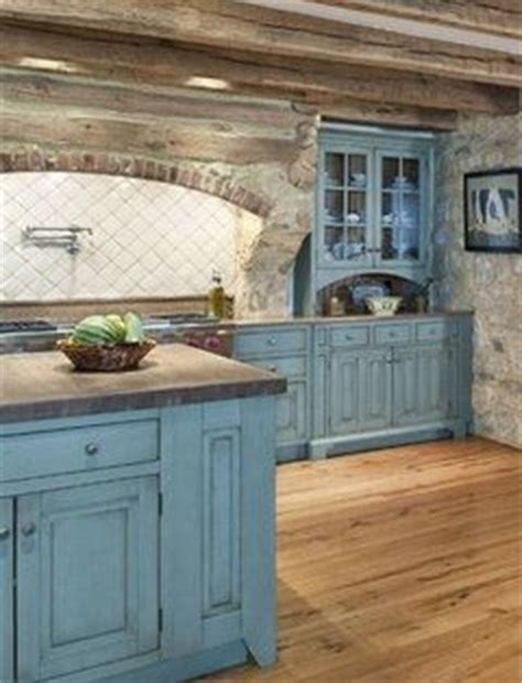 Blue Stained Kitchen Cabinets Blue Cabinets With Stain Wash Cool House Stuff