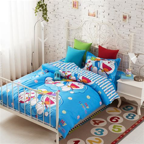 3pcs doraemon bedding teen bedding sets cheap duvet covers