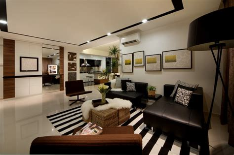 modern living room apartment modern apartment in singapore with a clean design