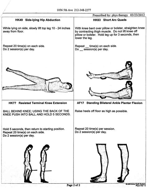 therapy exercises physical therapy not a