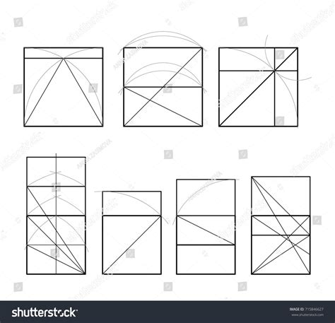 Golden Section Cover Template Pattern Proportions Stock Vector 715846627 Shutterstock Golden Ratio Design Template