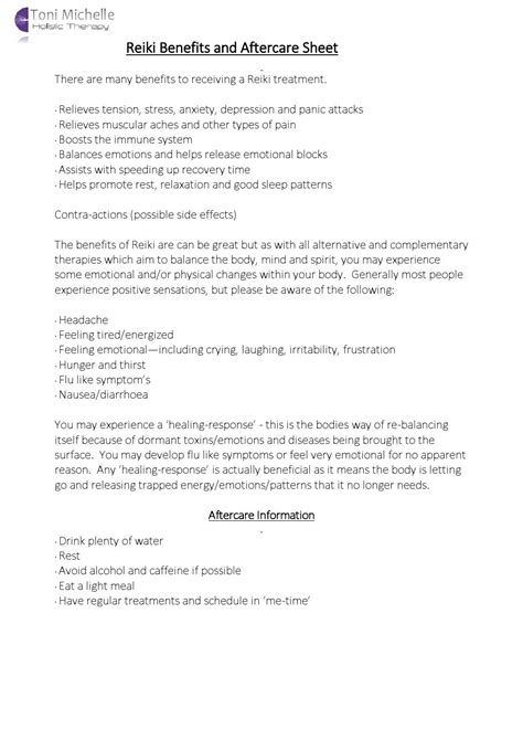 aftercare sheets  jon francis lee issuu