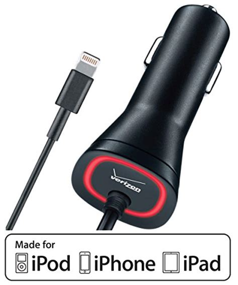 verizon iphone 5 car charger verizon 2 1a vehicle charger for apple lightning devices