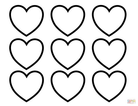 printable hearts for valentines day coloring pages valentines day blank hearts coloring page