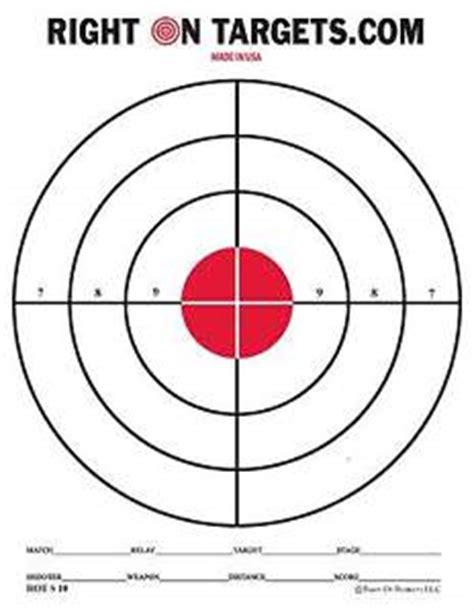 printable targets remington 50 red bullseye hand gun and rifle paper shooting targets