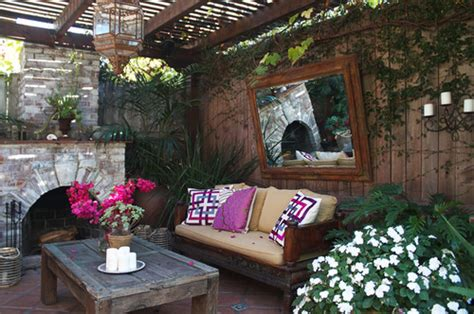 Cozy Backyard Patios by Unique Ideas In Decorating With Mirrors