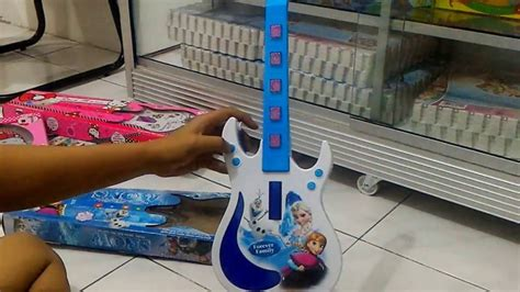 Mainan Gitar Frozen Mainan Anak demo mainan anak guitar karakter frozen snow tanpa