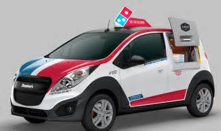 how for a new car to be delivered domino s unveils special pizza delivery car