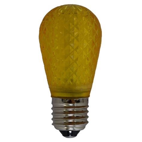 yellow led light bulbs yellow led s14 cut faceted light bulb