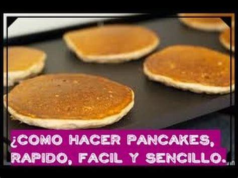 como hacer pancakes caseros, muy fÁcil! ♥ youtube