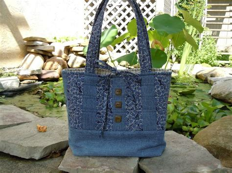 Denim Patchwork Bag Patterns Free - rag quilt denim patterns free bag