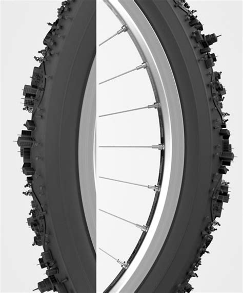 rubber st pattern city cycle curved tread wraps bike tire