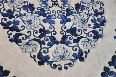 rugs blue and white blue and white rug at 1stdibs