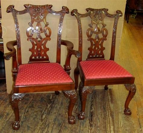 antique dining room chairs ireland antique copy set of 12 carved chippendale