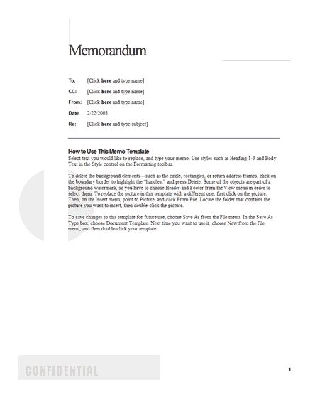 Memo Template Design Memos Office