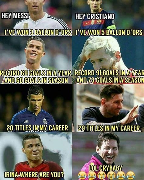 Messi Meme - 172 best messi vs ronaldo images on pinterest football
