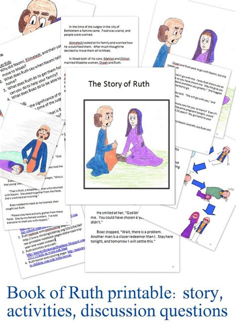 themes in book of ruth ruth activities for kids sunday school vbs 2016 and