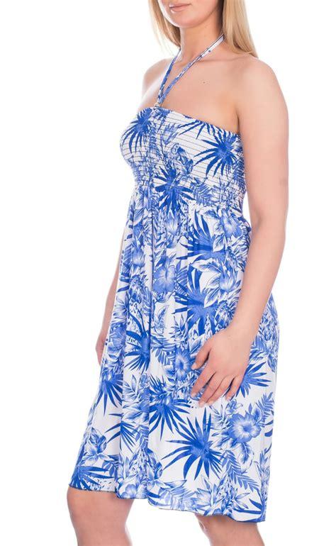 womens holidays womens ladies short knee length floral summer beach