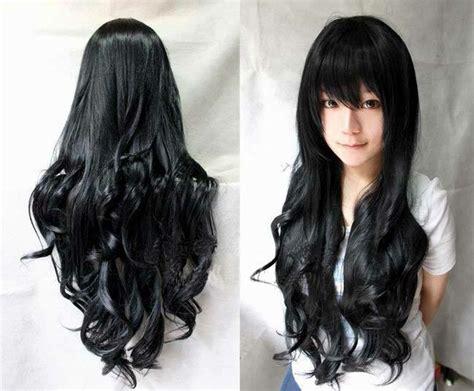Rambut Palsu Wig Daily 30 Black Brown Panjang Lurus Import hukum laki laki dan perempuan yang memakai rambut palsu