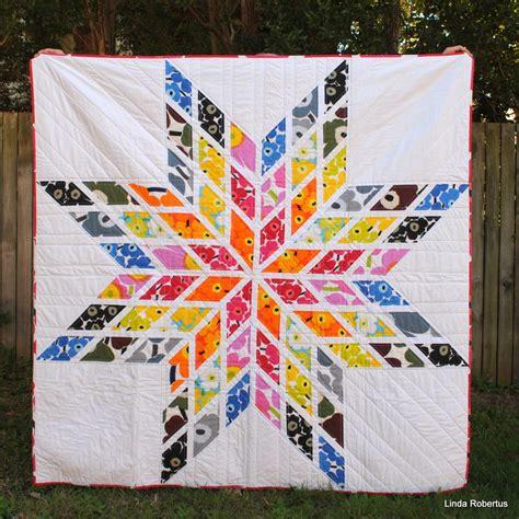 quilt pattern lone star blue jacaranda by linda robertus pattern modern lone star