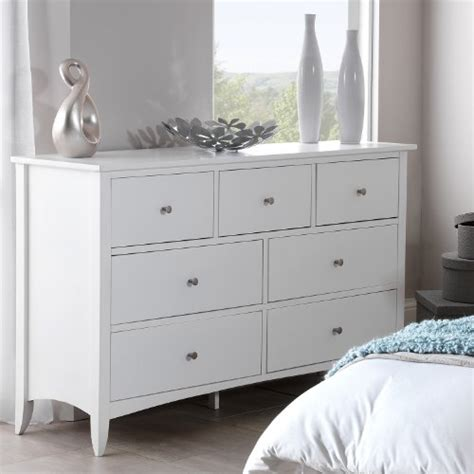 Chest Of Drawers Joinery Edward Hopper White Large 7 Drawer Chest Furniture Uk