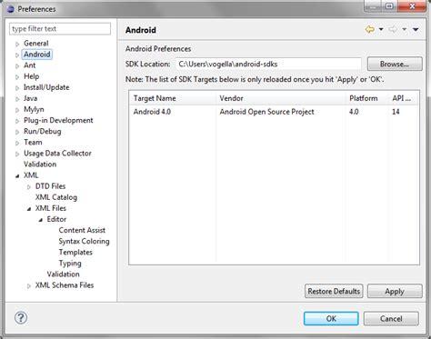 android studio tutorial vogella android studio and android development tools installation